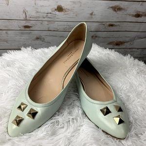 Loffler Randall Flats Shoes light Green 10.5 B
